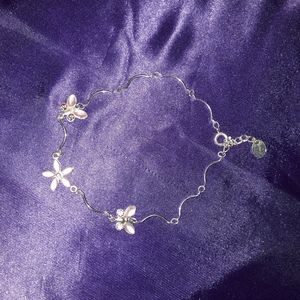 NWOT STERLING SILVER BUTTERFLY ANKLET